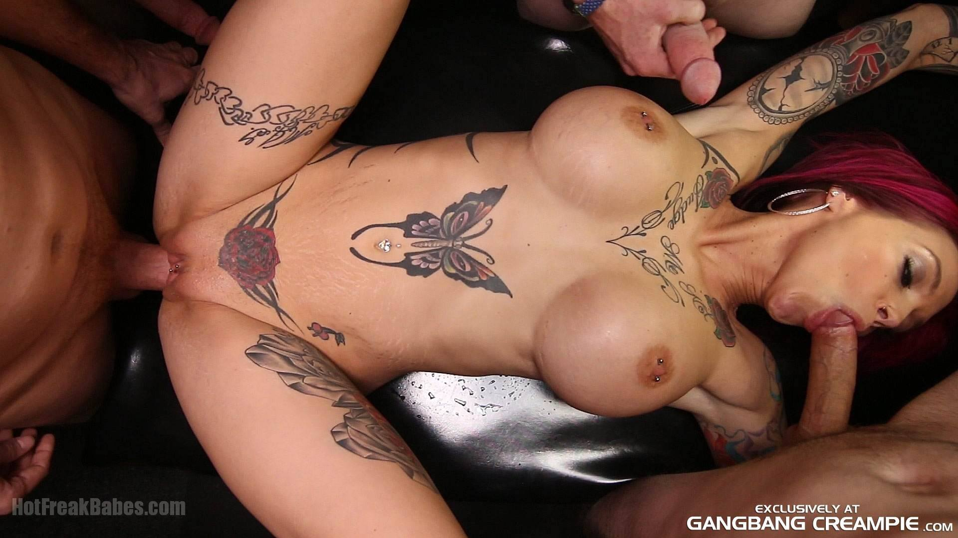 Anna Bell Peaks, busty, mature, tattoos, piercings, squirting, orgasms, cock sucking, Gangbang Creampie, Gangbang, Creampie, moresome, pornstars, The Ultimate Gangbang and Creampie site