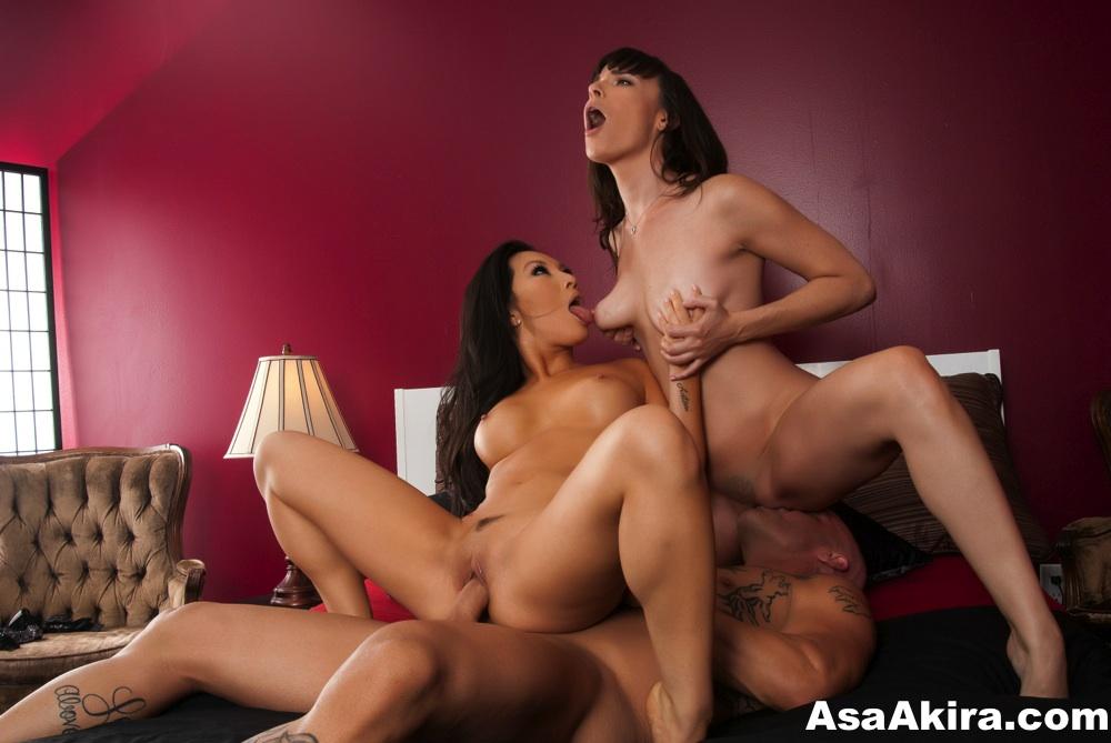 Asa Akira, Dana DeArmond, threesome, superstar Asa Akira, Asa Akira, Asian, puba, pornstar, anal, hard fucking, asa pornstar