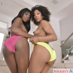 2 Chicks Same Time - Ana Foxxx and Misty Stone! Ebony beauties Ana and Misty are wet for Ryan's big dick to make for a horny threesome!